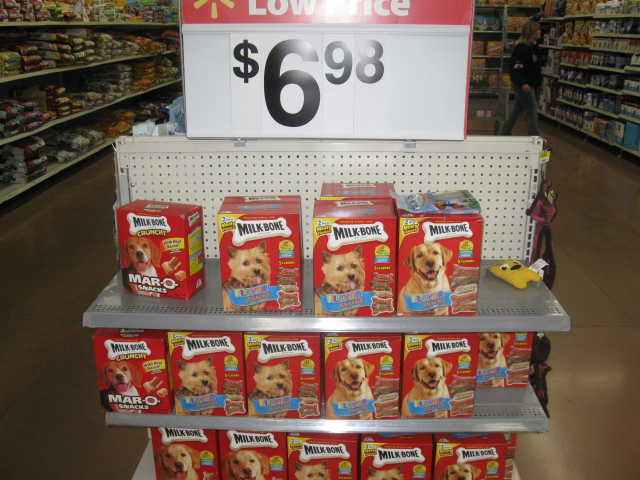 Photo: Right away we saw an end cap with Milk-Bone® treats!