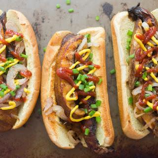 Portobello Mushroom Hot Dogs.