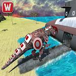 Robot Dinosaur Transform Future Underwater Game Icon