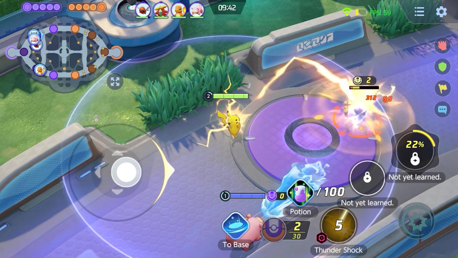 ภาพตัวอย่าง Pokemon Unite เกม MOBA ล่าสุดจากแฟรนไชส์ Pokemon