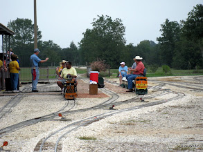 Photo: Virginia Freitag (station master), Brent Muecke (station agent), Caleb Robers (engineer), Donna Greene (conductor) and David Hannah (egnieer) HALS 2009-0919