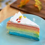 Rainbow Mille Crepe Cake