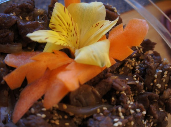 PLATING TIPS:  You're welcome to use carrots and flowers on plating or add fresh...