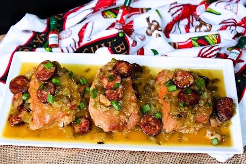 Louisiana-Style Smothered Pork Chops