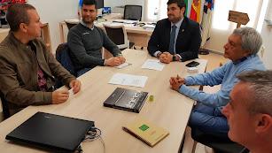 Reunión del Ayuntamiento con Calar Alto y Robonity para el proyecto de luminarias.