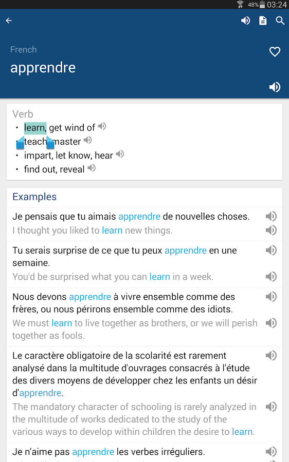 French English Dictionary & Translator Free- screenshot