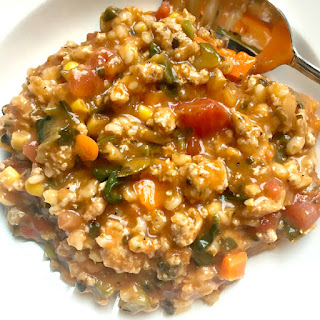 Turkey Vegetable Barley Soup.