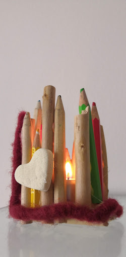 Do it yourself...pencils candle light