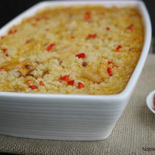 Cheesy Cajun Shrimp and Rice Casserole.