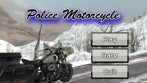 Police Motorcycle 3D Simulator