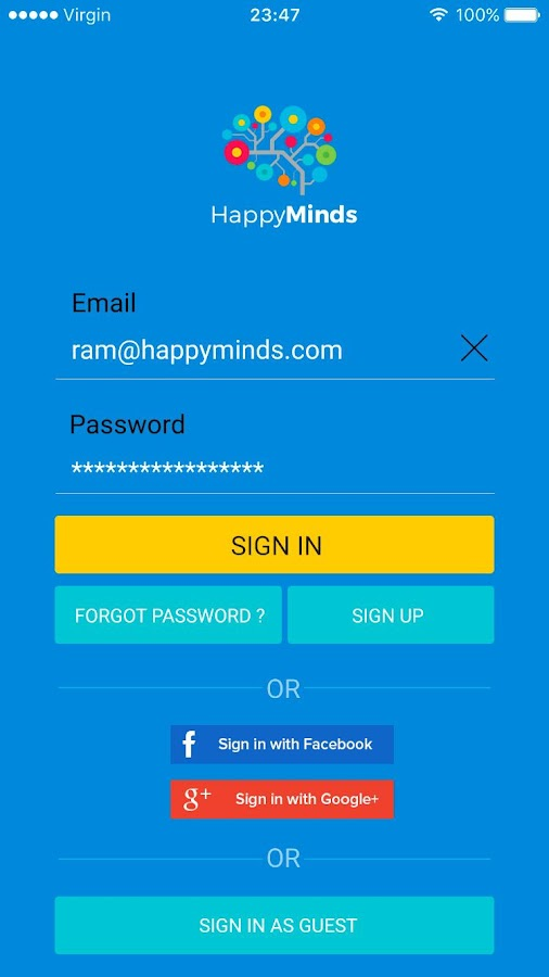 HappyMinds- screenshot