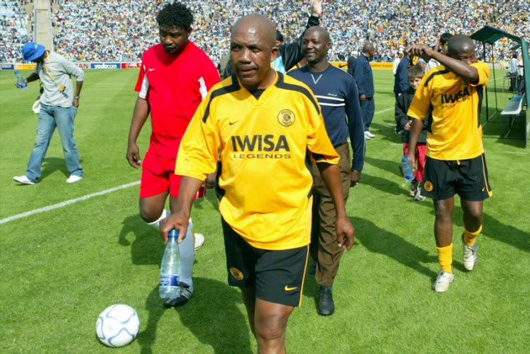Ace Ntsoelengoe during the match between Kaizer Chiefs Legends and Orlando Pirates Legends at Soccer City in Johannesburg, South Africa.