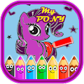 ColorMe - Little Charm Pony Coloring Book for Kids