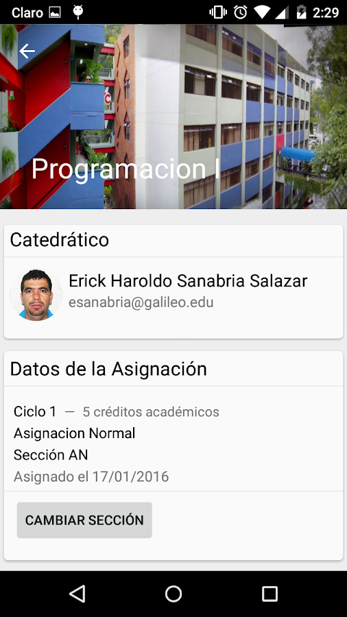 Estudiantes Galileo- screenshot