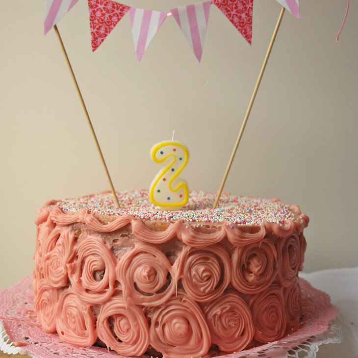 2-Layer Chocolate Cake with Strawberry Filling and White Chocolate Icing