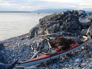 Photo: Harwood Island, the BC mainland and Malaspina Strait from Texada Island.