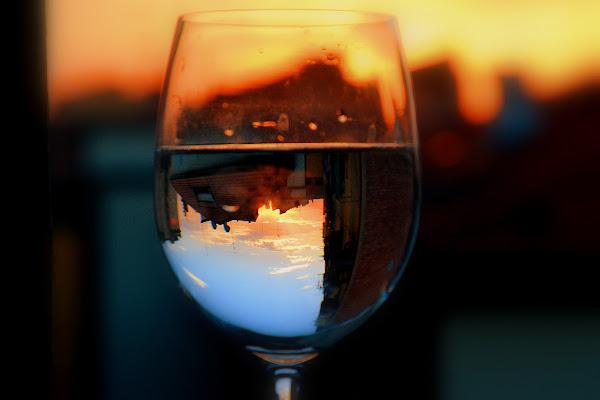 Tramonto in un bicchiere di Pablophoto