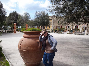 Photo: Kait in the main square of Saturnia (Frazione di Manciano). More at  http://blog.kait.us/2013/03/terme-di-saturnia.html