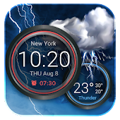 Weather Widget with Alarm Clock
