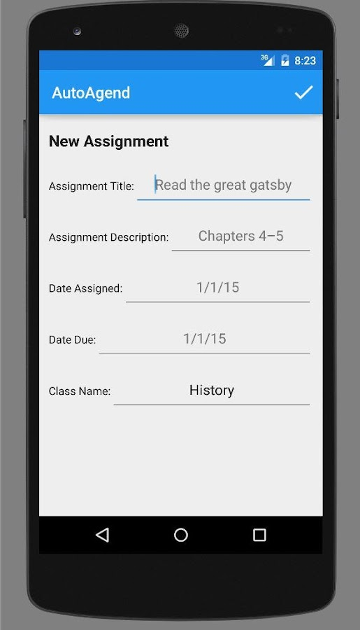 AutoAgend Student Planner- screenshot