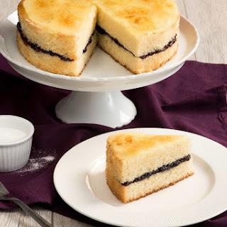 Black Currant Creme Brulee Cake.