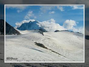Photo: Glacier du Tour, sur fond d'Aiguille Verte
