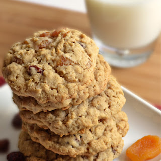 Cherry Apricot Oatmeal Cookies