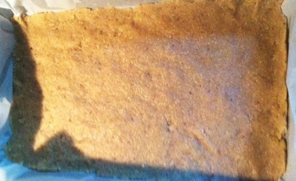 Pour in to lined pan. Press down crust in bottom of pan. Bake for...
