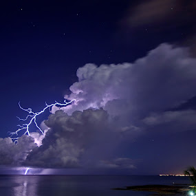 Lightning crashes by Paul Glinowiecki - Landscapes Weather ( clouds, water, lightning, weather, storm, landscape,  )