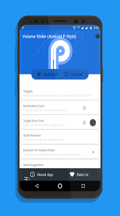 Volume controls android p - P Volume controls Free APK Download