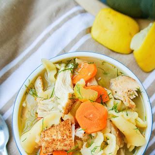 Lemon-dill Chicken Noodle Soup