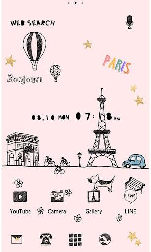 大人かわいい壁紙・アイコン-Little Paris-無料