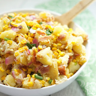 Bacon and Roasted Corn Potato Salad