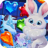 Bunny's Frozen Jewels: Match 3