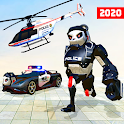 Grand police robot transform simulator icon