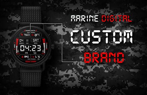 Marine Digital 2 Watch Face & Clock Live Wallpaper 1.07 screenshots 8