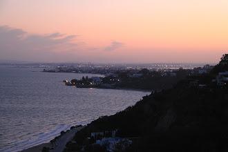 Photo: Evening sky looking towards Tunis from Sidi Bou Said. Très romantic.