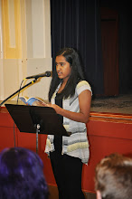 Photo: Maya Ganesan was probably the youngest contributor at the reading.