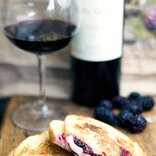 Blackberry and Brie Grilled Cheese Sandwich.