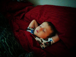 Photo: Finn in Mommy's Bed