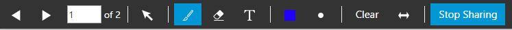 """Share PDF"" Funktionsleiste im 3CX WebMeeting"
