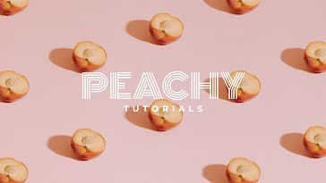 Peachy Tutorials - YouTube Channel Art template