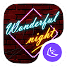Установить  Wonderful Night theme for APUS