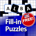 Fill in puzzles free - Free Word Puzzle Game icon