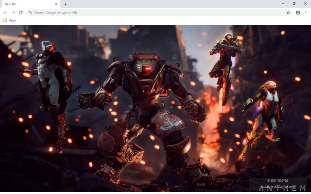 Anthem New Tab & Wallpapers Collection