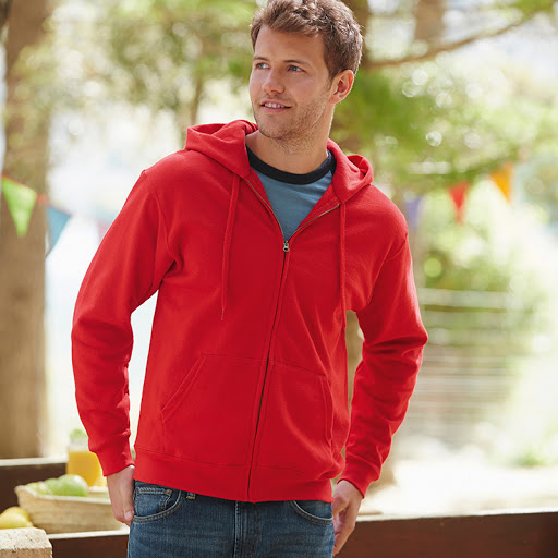 Fruit of the Loom Hooded Sweatshirt with Zip
