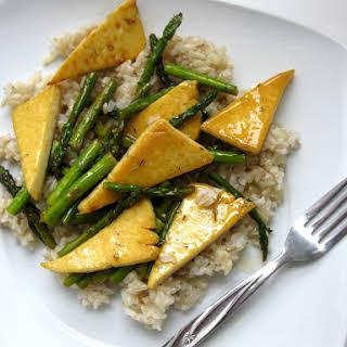 Lemon-Glazed Asparagus and Tofu Stir-Fry.