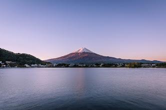 Photo: Mt Fuji showing its splendor on an early November morning