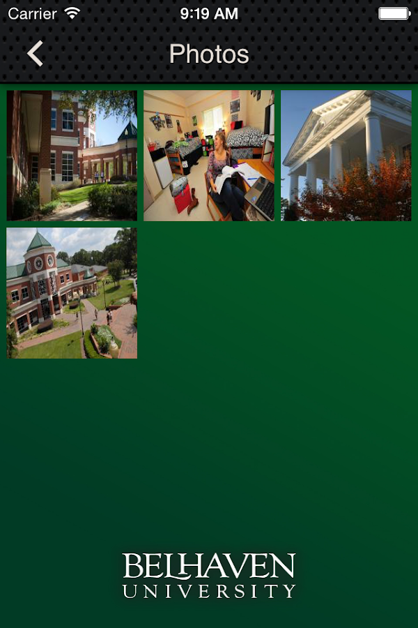 Belhaven University- screenshot