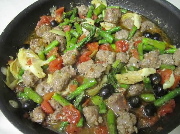 Mediterranean Pasta & Sausage Skillet Recipe